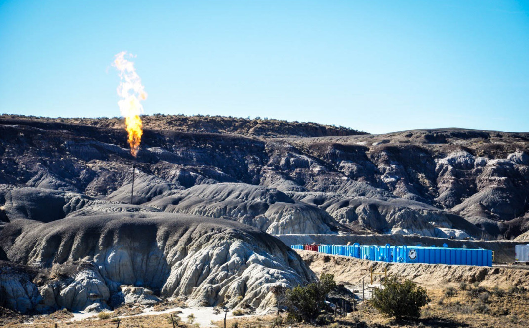 Methane New Mexico Flare