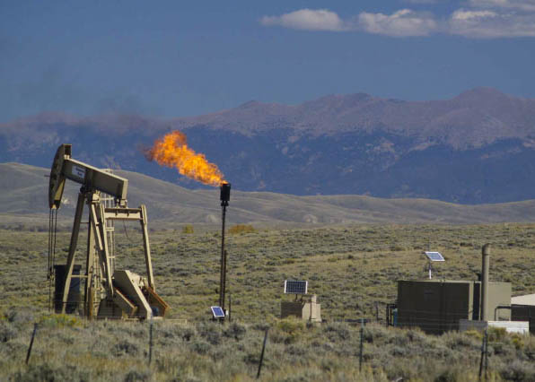 Flaring of oil and gas