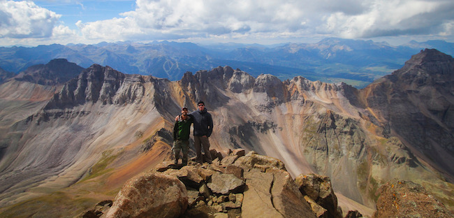 Photo of Hikers on a mountain top