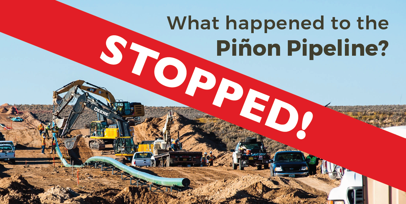 Pinon Pipeline Stopped