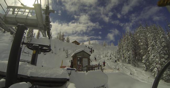 Top of Alberta lift at Wolf Creek Ski Area