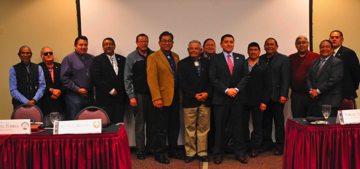 Navajo President with All Pueblo Council of Govenors