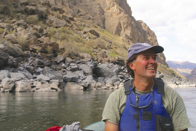 Photo of Mark Pearson on the river