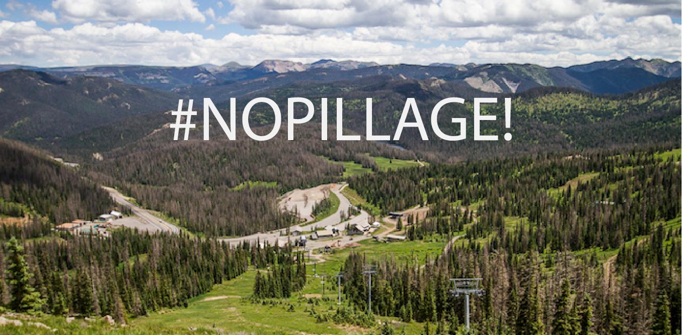 Banner of Wolf Creek Ski Area with #NOPillage