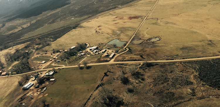 Aerial view of Montezuma County from Ecoflight flyover for MLP