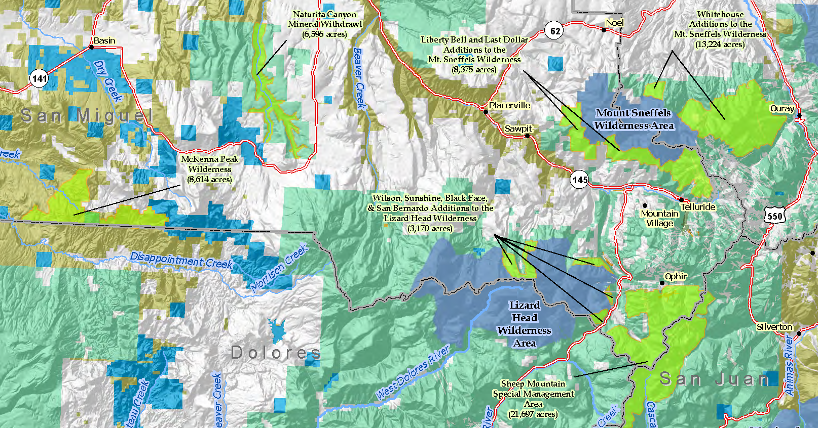 Overview Map San Juan Mountains Wilderness cropped - San ...