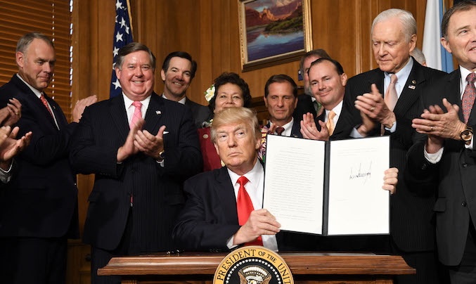 Trump signing executive order to review national mnuments