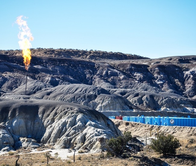 Flaring gas NM