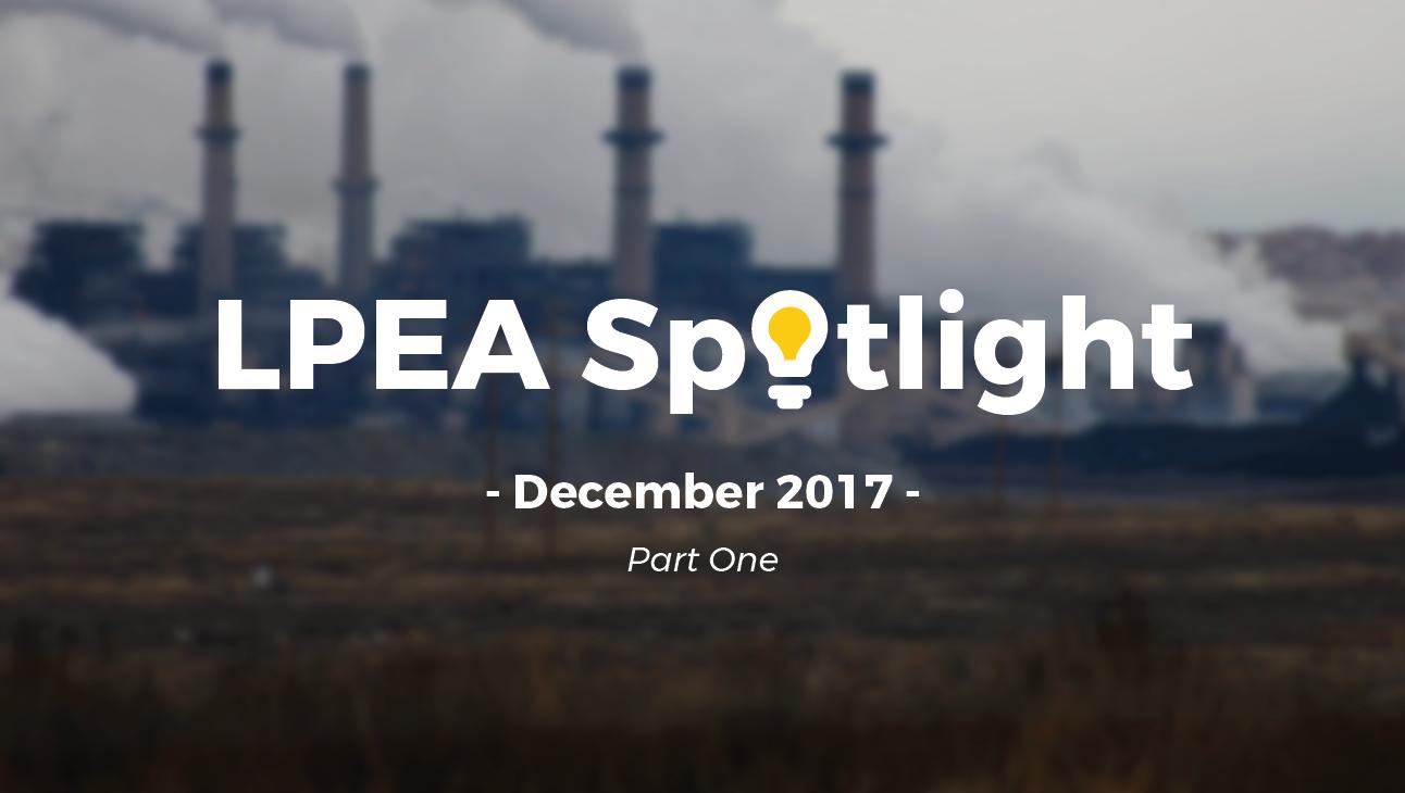 December 2017 LPEA Spotlight