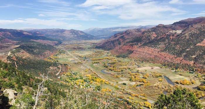 View of Animas Valley from Animas Mountain