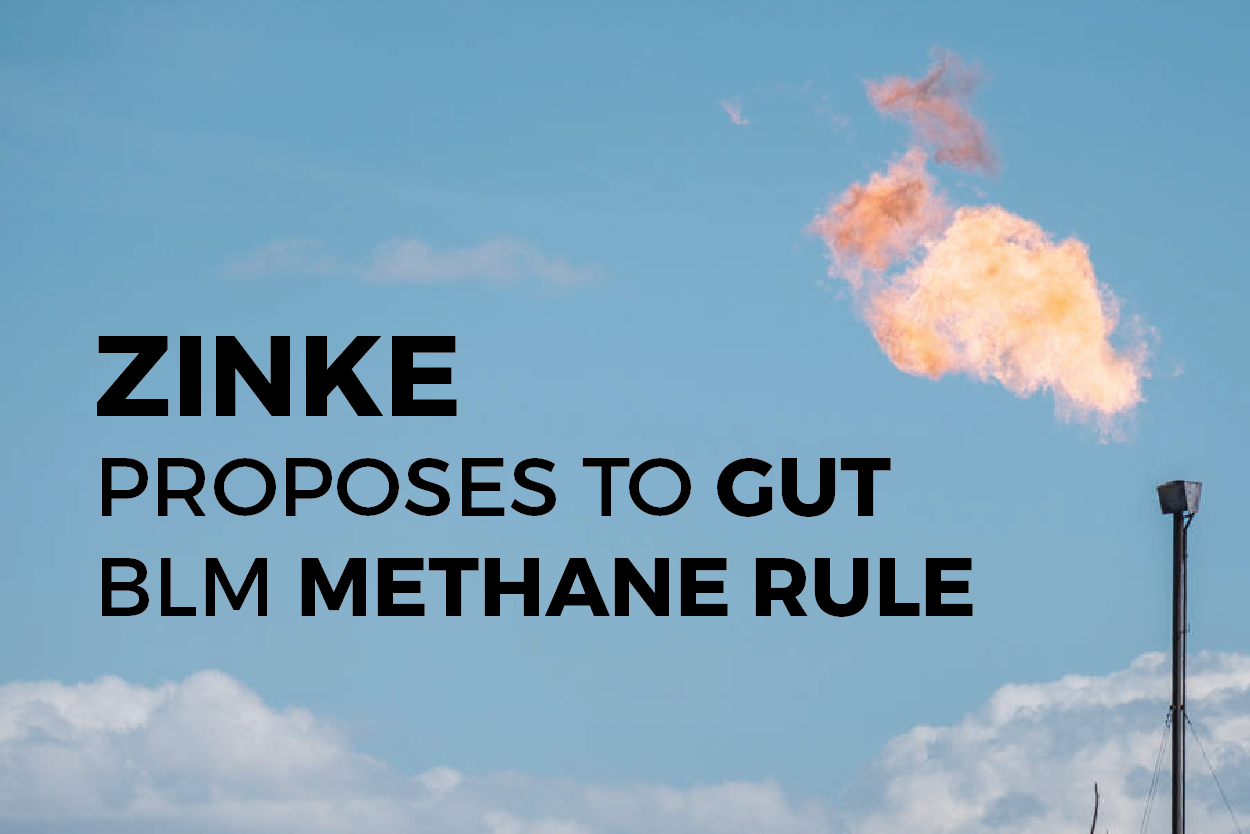 Zinke Methane Proposal