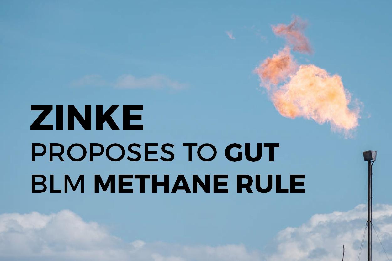 Zinke Methane Proposal