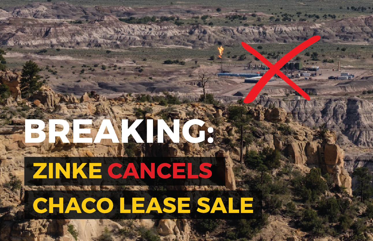 Chaco Sale Cancelled