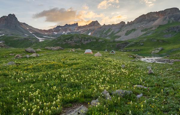 Photo of folks camping at Ice Lakes by Jason Hatfield