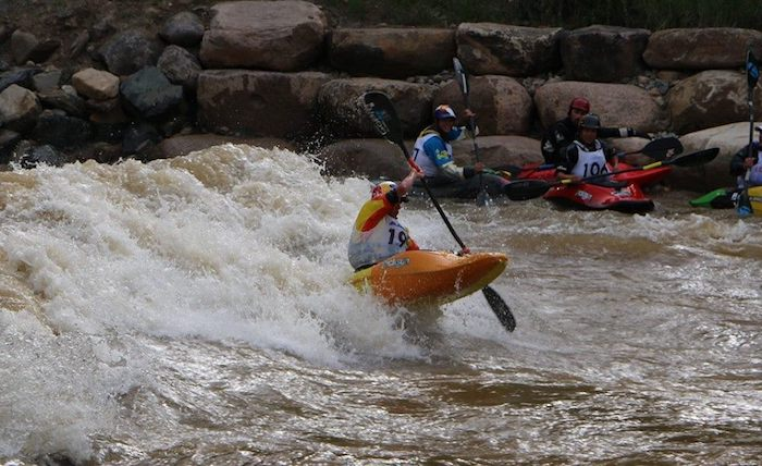 Kayaker in Smelter for Animas River Days
