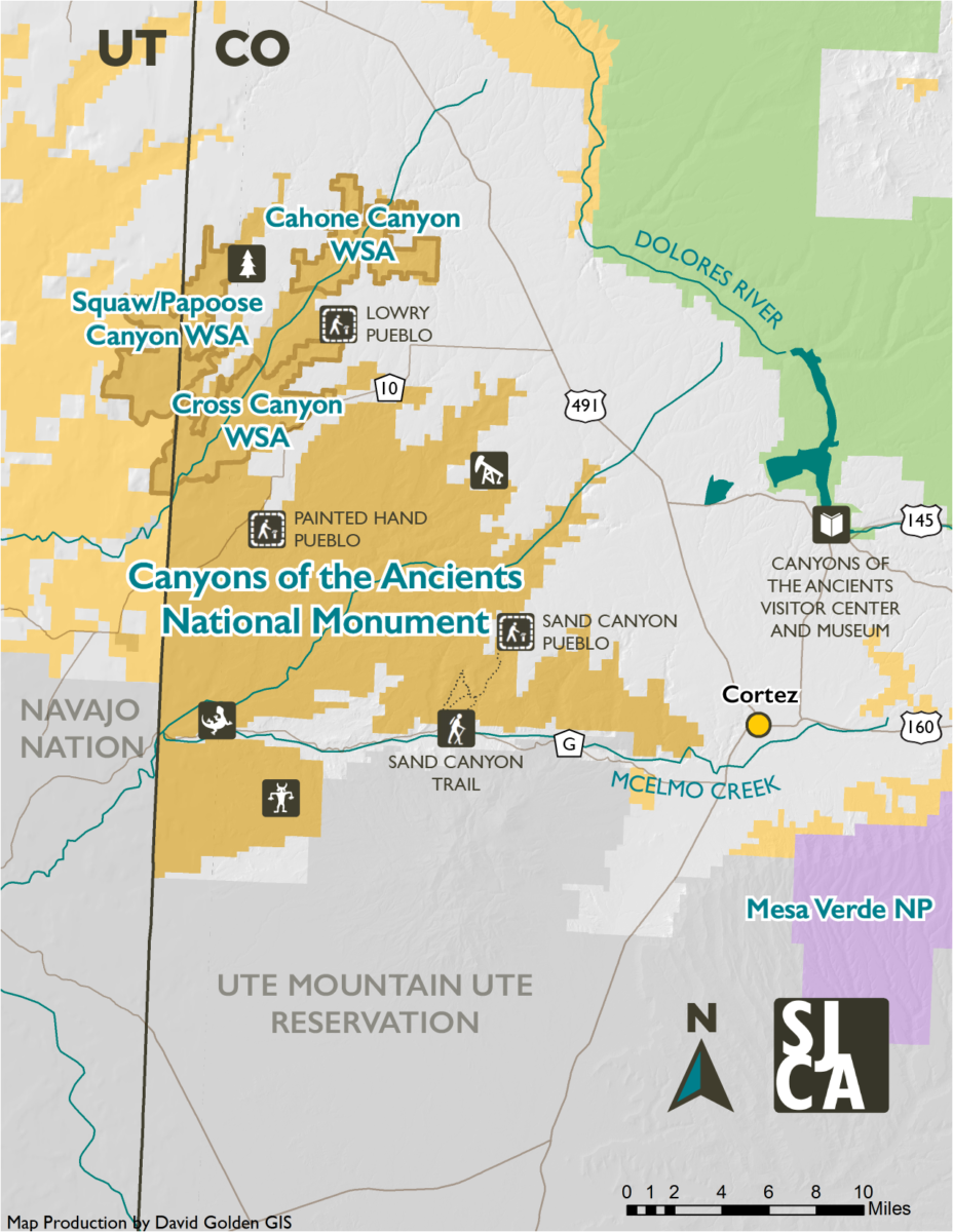 Canyon Of The Ancients Map Canyons of the Ancients   San Juan Citizens Alliance