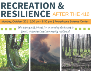 Recreation and resilience event banner