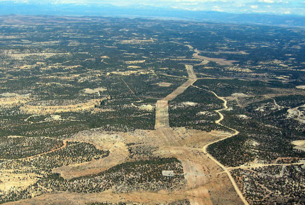 aerial view of oil and gas in New Mexico