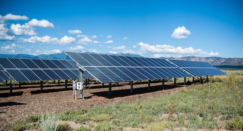 Solar installation at Mesa Verde
