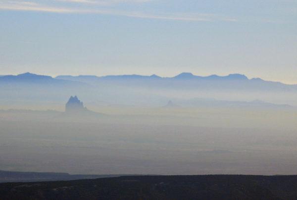 Smog over Shiprock