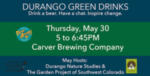 Banner for Durango Green Drinks May 2019