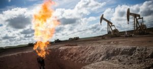 Flaring methane